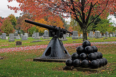 Photograph - Cemetery Cannon by Bill Jordan