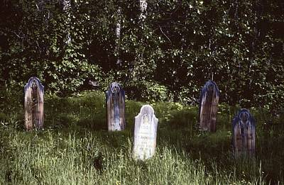 Edward Hopper - Cemetery Dawson City Yukon Territory Canada 1977 by David Lee Guss
