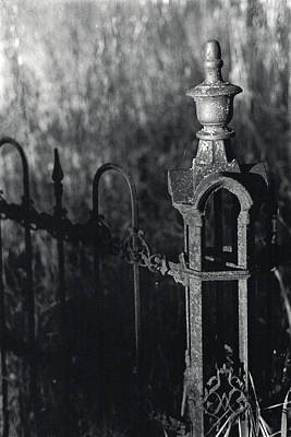 Photograph - Cemetery  Fence by Erik Paul