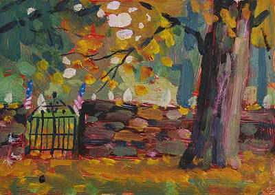 Painting - Cemetery Gate by Len Stomski