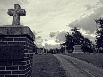 Photograph - Cemetery Gates by Kyle West