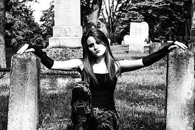Photograph - Cemetery Girl by Catherine Hill