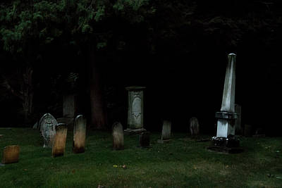 Pyrography - Cemetery Glow by Douglas Milligan