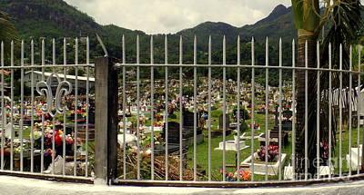 Photograph - Cemetery In Seychelles Islands by John Potts