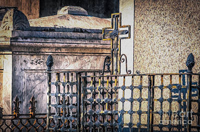 Photograph - Cemetery Iron Work Nola- Painted by Kathleen K Parker