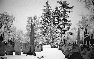 Photograph - Old First Church Cemetery by John Schneider