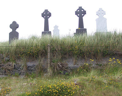 Cemetery On Inisheer Aran Islands Ireland Art Print by Linda Hardin