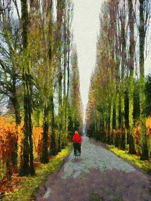 Tourist Attraction Digital Art - Cemetery Road by Dorothy Berry-Lound