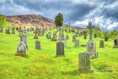 Photograph - Cemetery Scottish Highlands by Benny Marty