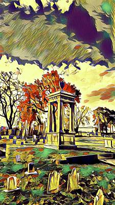 Painting - Cemetery Sunset  by Ally White