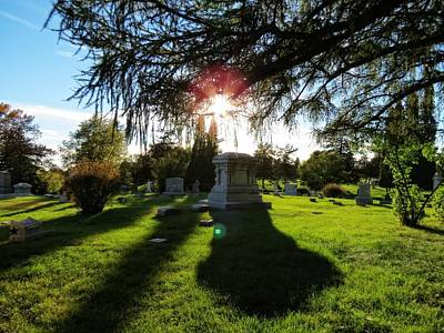 Photograph - Cemetery Sunset by Kyle West
