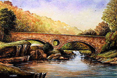 Painting - Cenarth Bridge And Falls by Andrew Read