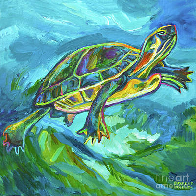 Painting - Cenote Turtle by Robert Phelps