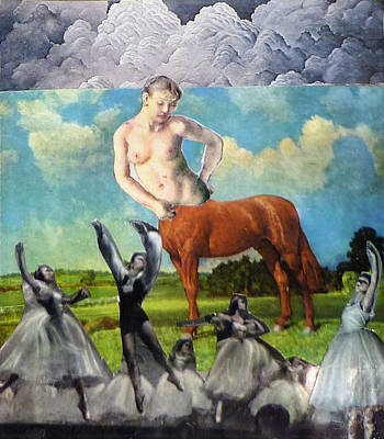 Centaur Mixed Media - Centaur Dance by Tom Calderon
