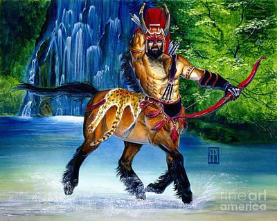 Centaur In Waterfall Original