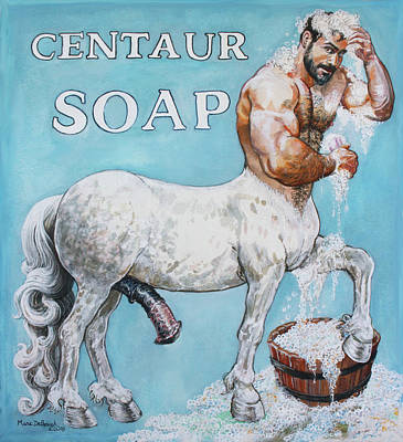 Painting - Centaur Soap by Marc DeBauch