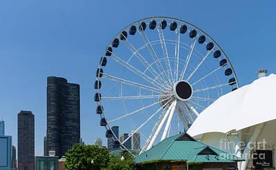 Photograph - Centennial Ferris Wheel by Jennifer White