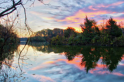 Photograph - Centennial Lake At Sunrise by Mark Dodd