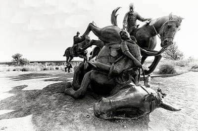 Photograph - Centennial Land Run Monument 5 by John Hoey