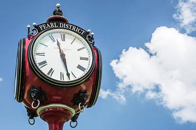 Photograph - Centennial Park Clock - Pearl District - Tulsa Oklahoma by Gregory Ballos
