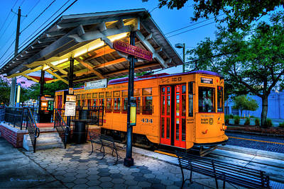 Trolley Photograph - Centennial Park Satation by Marvin Spates