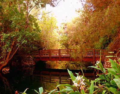 Digital Art - Center Bridge by Timothy Bulone