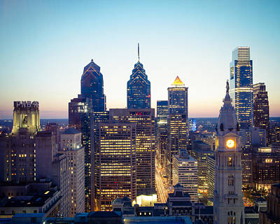 Center City Philadelphia Print by Aaron Couture