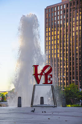Phillies Digital Art - Center City Philadelphia - Love Park by Bill Cannon
