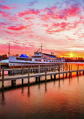 Photograph - Center Harbor Sunrise II by Robert Clifford