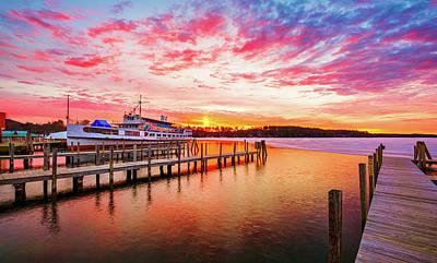 Photograph - Center Harbor Sunrise by Robert Clifford