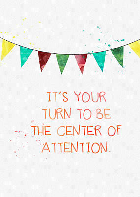 Center Of Attention- Card Print by Linda Woods