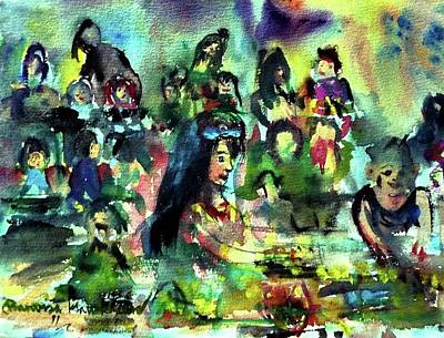 Painting - Center Of Attention by Wanvisa Klawklean