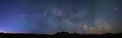 Photograph - Center Of The Milky Way Over The Badlands by Dakota Light Photography By Dakota
