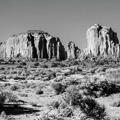 Photograph - Center Panel 2 Of 3 - Monument Valley Monolith Panorama Landscape by Gregory Ballos