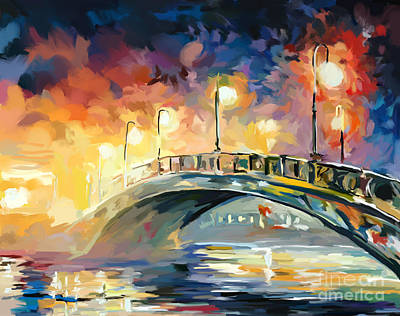 Painting - Center Park Bridge by Tim Gilliland