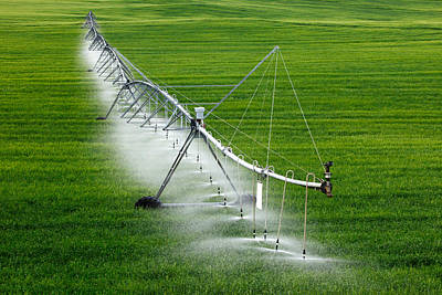 Center Pivot Irrigation Art Print by Todd Klassy