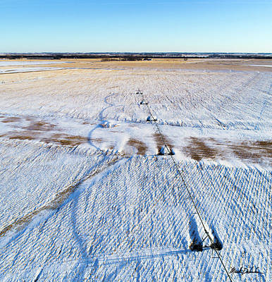 Photograph - Center Pivot Shadows by Mark Dahmke