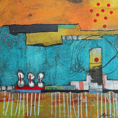 Orange Mixed Media - Center Stage by Laura  Lein-Svencner