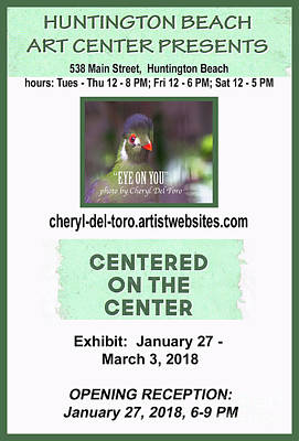 Photograph - Centered On The Center Art Exhibit by Cheryl Del Toro