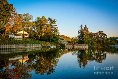 Photograph - Centerport Harbor Autumn Colors by Alissa Beth Photography