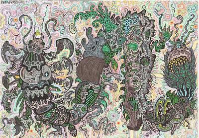 Centipede In Timeshift Original by Denis Bronnikov
