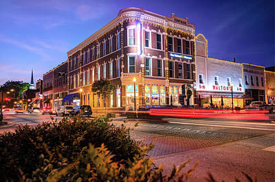 Photograph - Central And Main Street - Downtown Bentonville Arkansas by Gregory Ballos