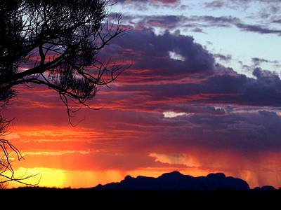 Photograph - Central Australia Sunset by Louise Fahy