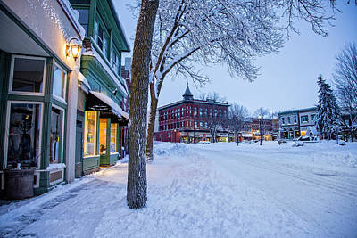 Photograph - Central Block And Bridge Square After Snowstorm by Joe Miller