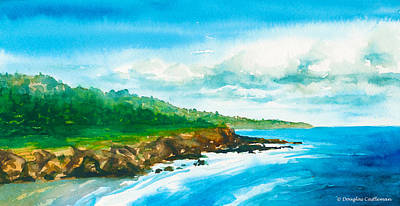 Painting - Central California Coast by Douglas Castleman