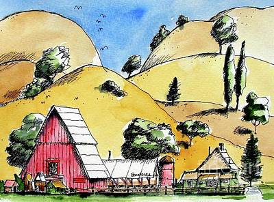 Painting - Central California by Terry Banderas