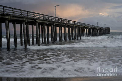 Central Coast Pier Art Print by Ronald Hoggard
