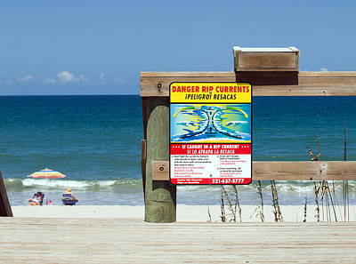 Superhero Ice Pop - Central Florida Beach Warning by Allan  Hughes