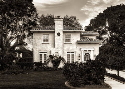 Florida House Photograph - Central Florida Mediterranean Style Home - 1926 by Frank J Benz