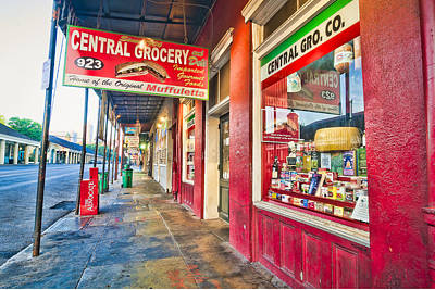 Photograph - Central Grocery And Deli In The French Quarter by Andy Crawford